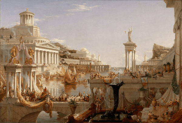 Roman History - The Consumation, The Course of Empire: Cole Thomas (1836)