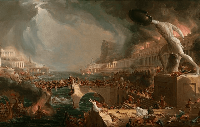 Roman History - Destruction, The Course of Empire: Cole Thomas (1836)